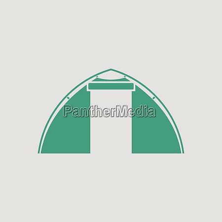 touristic tent icon gray background