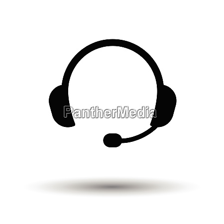 headset icon black background with white