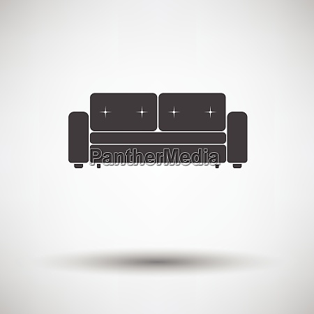 home sofa icon on gray background