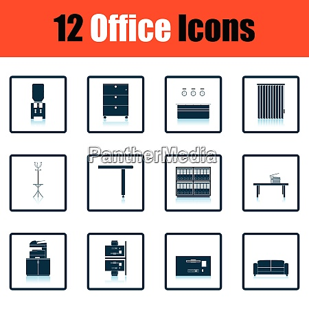 office furniture icon set office furniture