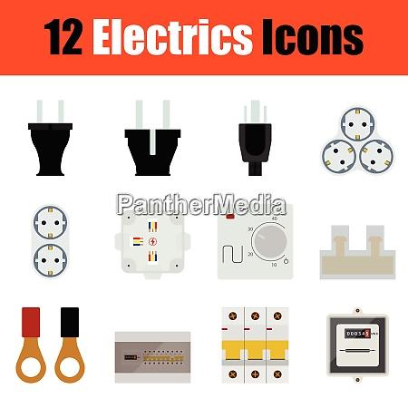 flaches design elektrik symbol in ui