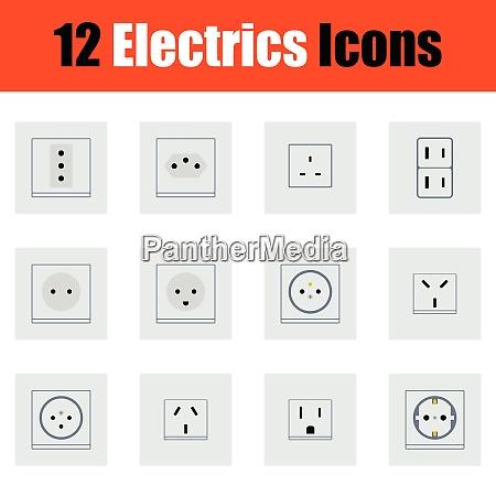 flachdesign elektrisch icon in ui farben