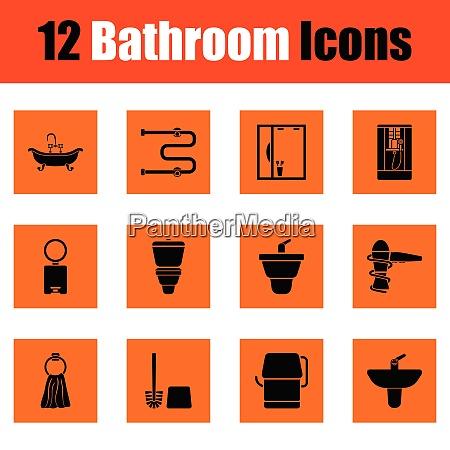 bathroom icon set bathroom icon set