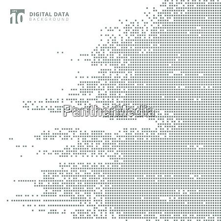 abstrakte technologie digitale daten quadratisch grau