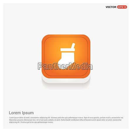 icon socken orange abstract web button