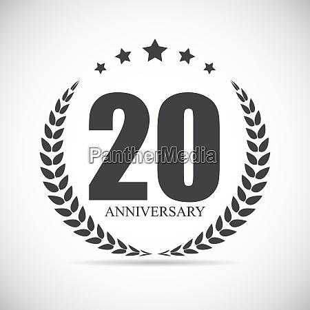 schablone logo 20 jahre vector illustration