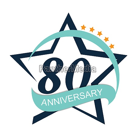 schablone logo 80 jubilaeum vector illustration