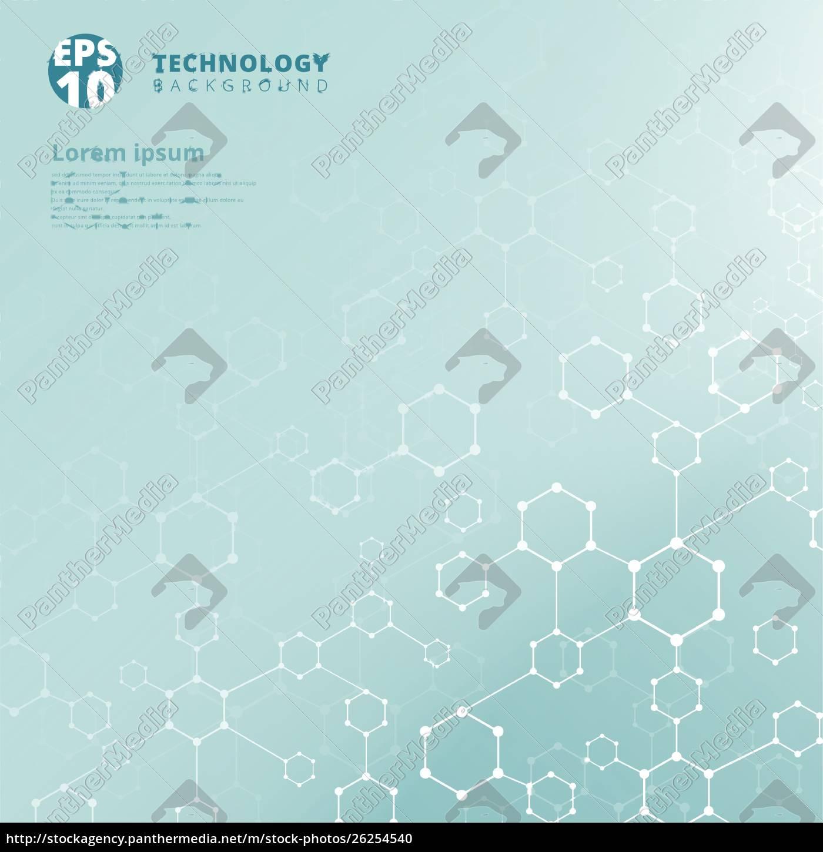 abstrakte, technologie, geometrische, sechseck, mit, punkten - 26254540
