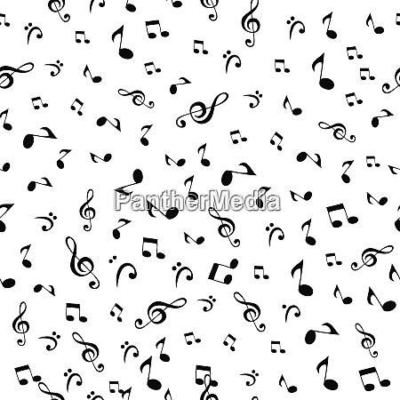 abstract music notes seamless pattern background