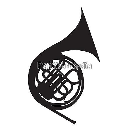 musikinstrument horn das in symphonieorchestern und