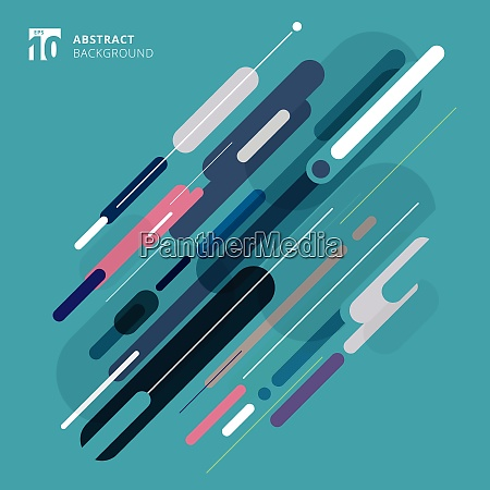 abstract rounded geometric shape blue color