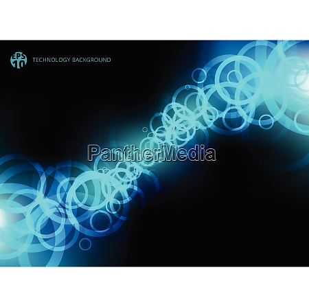 abstract technology blue circles motion on