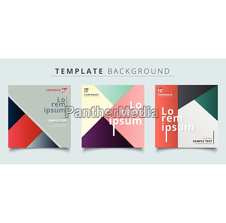 set of abstract geometric layout minimal