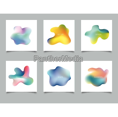 abstract cover set colorful gradient liquid