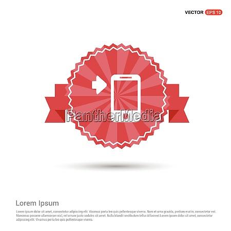 smartphone ikone red ribbon banner