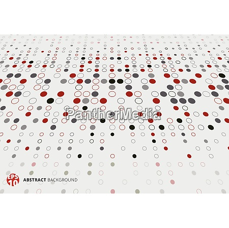 abstract halftone pattern dots red black