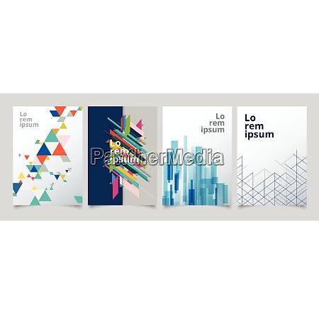 set template geometric covers design gradient