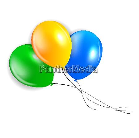 ballons in brasilien flagge farben vektor