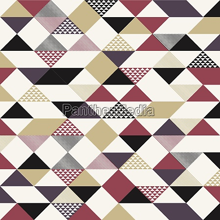 abstract retro style triangles pattern with