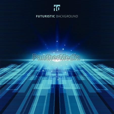 abstrakte blaue virtuelle technologie konzept futuristischen