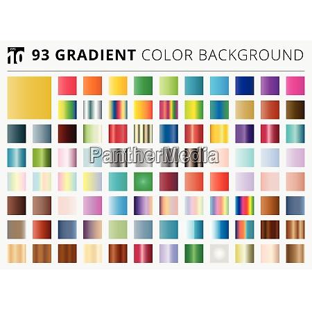 set of 93 square gradient color