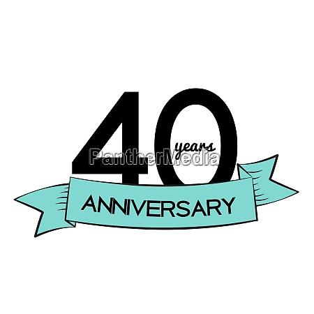 vorlage logo 40 jahre jubilaeum vektor