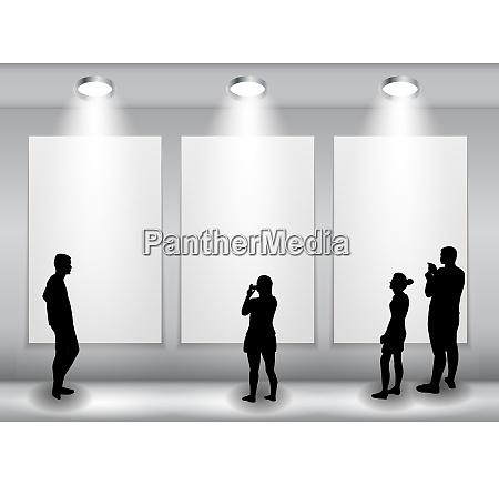 silhouette von menschen im hintergrund mit