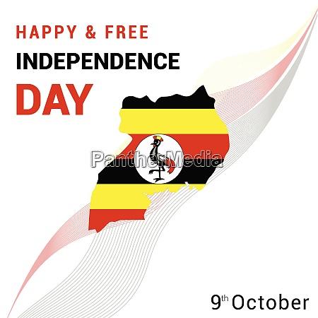 uganda independence tag design vektor
