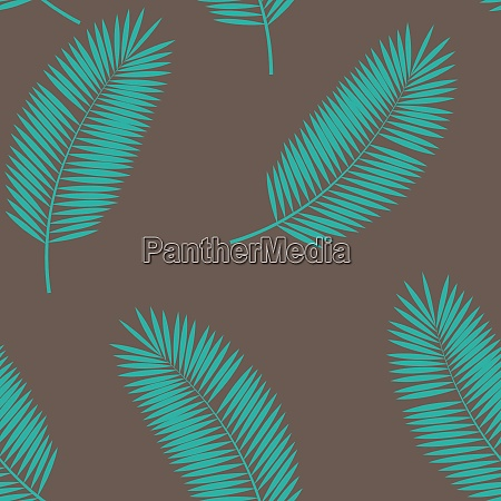 palm leaf seamless pattern background vector