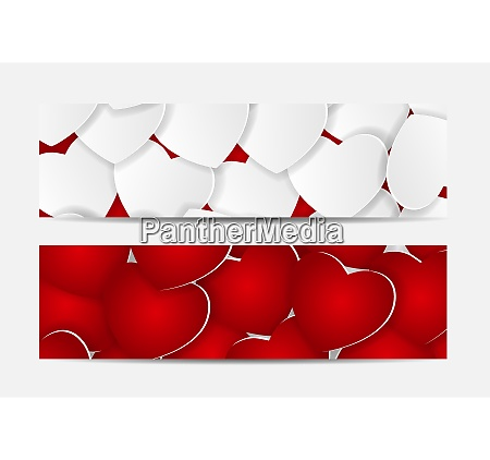 beautiful red and white hearts love