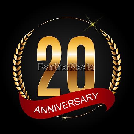 vorlage logo 20 jahre jahrestag vektor