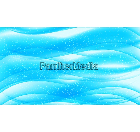 set of abstract blue wave on