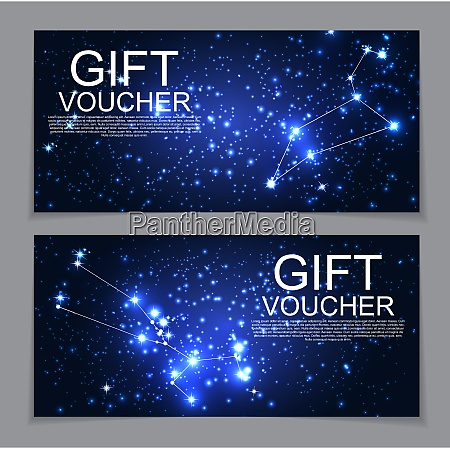 gift voucher template with set of