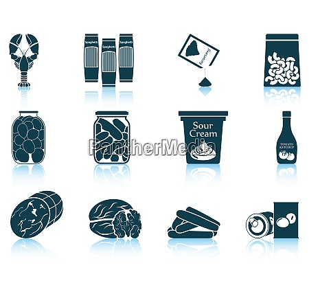 set of food icons eps 10