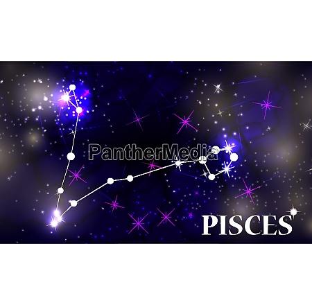 symbol pisces zodiac sign vector illustration