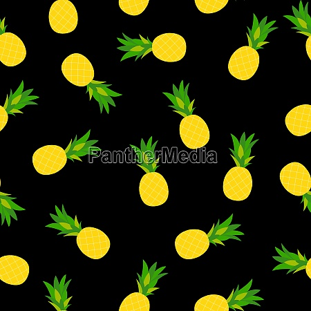 pineapple natural seamless pattern background