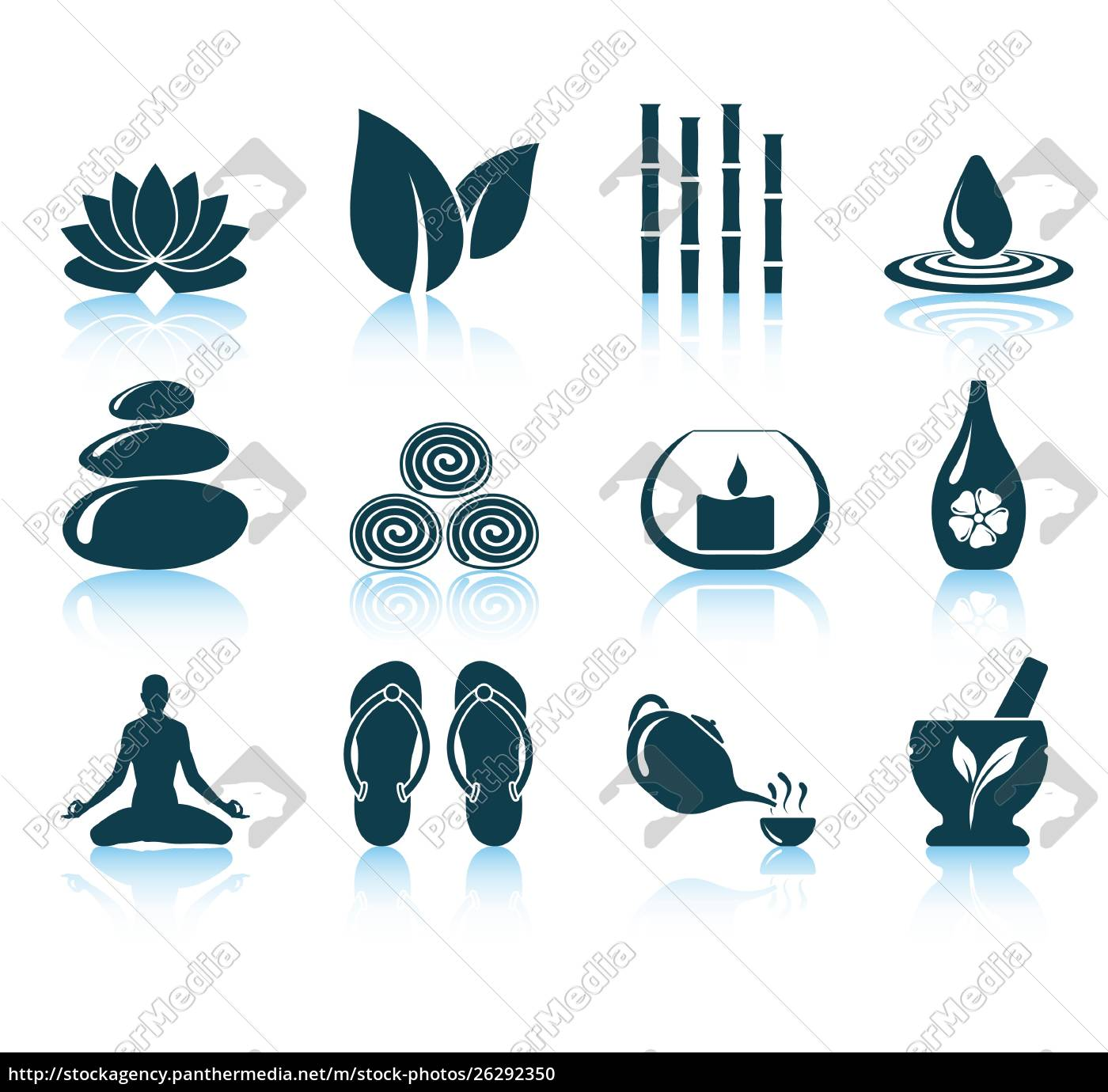 satz, von, spa-symbole., eps, 10, vektor-illustration - 26292350