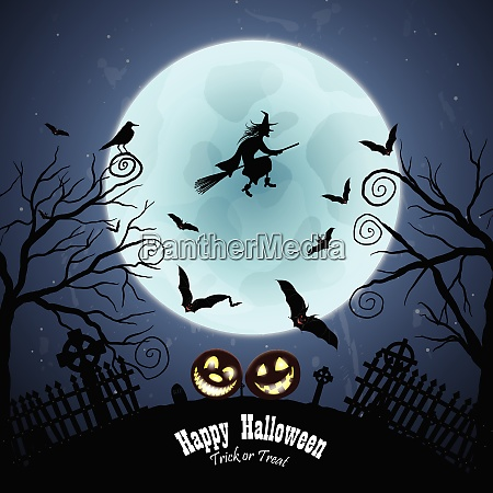 gluecklich halloween grusskarte elegantes design mit