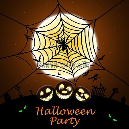 happy halloween greeting invitation card