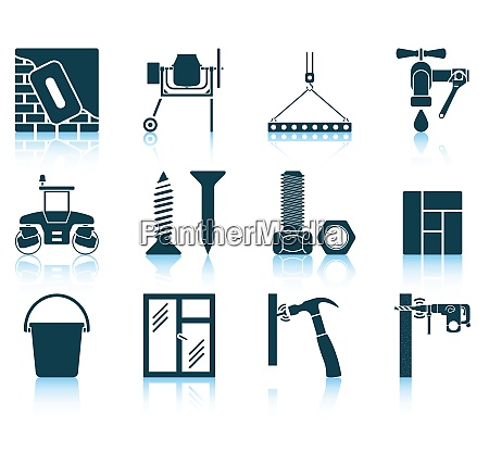 set of construction icons eps 10