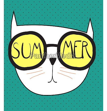 hello summer background with funny hand