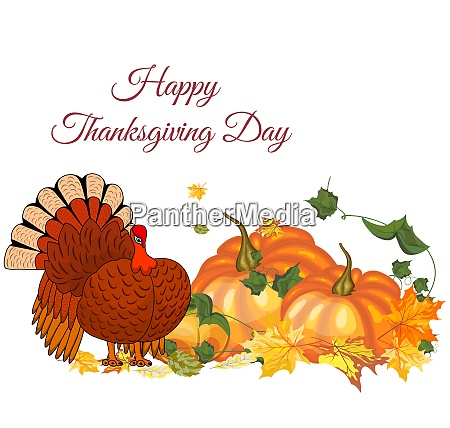 thanksgiving day grusskarte mit textraum design