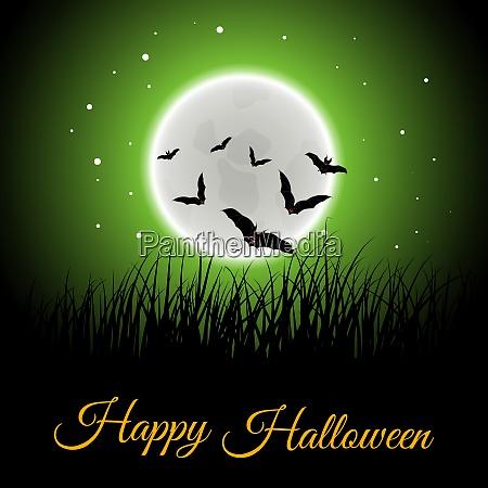 happy halloween greeting card elegant design