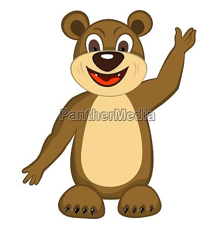 funny cartoon character bear with