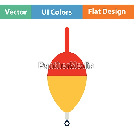 flat design icon of float flat