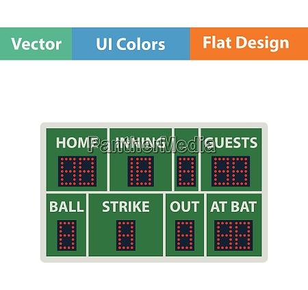 baseball anzeiger ikone flaches design vector