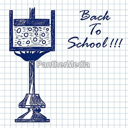 physics burner doodle sketch on checkered