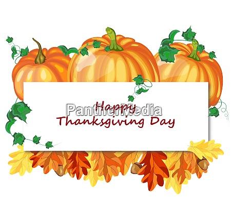 thanksgiving day greeting card white sheet