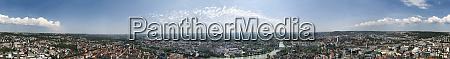 panoramic view of ulm baden wuerttemberg