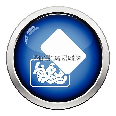 symbol des wurmcontainers glaenzende s taste